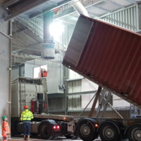 Creation of a container loading station